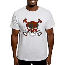 Fraser Tartan Skull T-Shirt
