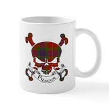 Fraser Tartan Skull Mug