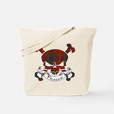 Fraser Tartan Skull Tote Bag