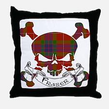 Fraser Tartan Skull Throw Pillow