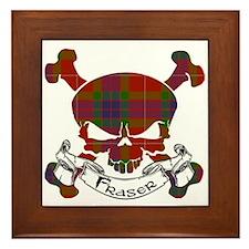 Fraser Tartan Skull Framed Tile