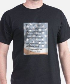 Airman's Prayer Black T-Shirt