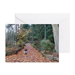 Shiloh Shepherd Trail Greeting Cards(Pk of 10)