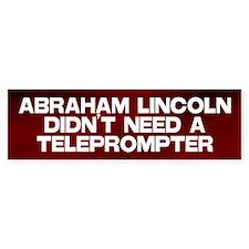 Abraham Lincoln Teleprompter Bumper Bumper Sticker