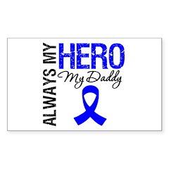 AlwaysMyHero Daddy Rectangle Sticker 50 pk)