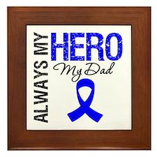 AlwaysMyHero Dad Framed Tile