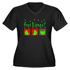 Margarita Lovers II Women's Plus Size V-Neck Dark