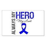 AlwaysMyHero Aunt Rectangle Sticker 50 pk)