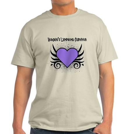 Hodgkins Survivor Tattoo Light T-Shirt