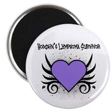 Hodgkins Survivor Tattoo Magnet