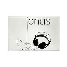 Jonas Bros Headphones Rectangle Magnet