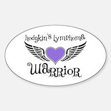 HodgkinsWarriorFighterWings Oval Sticker (10 pk)