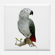 African Grey  Tile Coaster or Tile Art