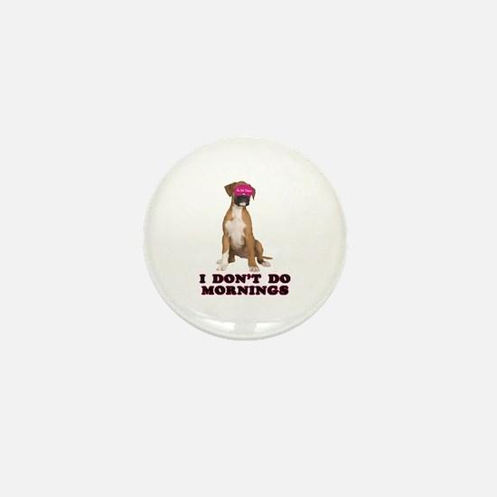 Boxer Mornings Mini Button
