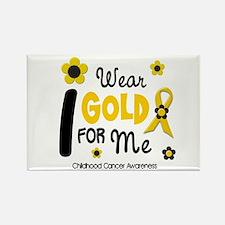 I Wear Gold 12 Me CHILD CANCER Rectangle Magnet