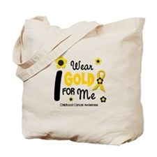 I Wear Gold 12 Me CHILD CANCER Tote Bag
