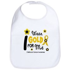 I Wear Gold 12 Me CHILD CANCER Bib