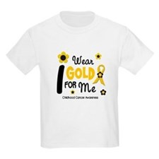 I Wear Gold 12 Me CHILD CANCER T-Shirt