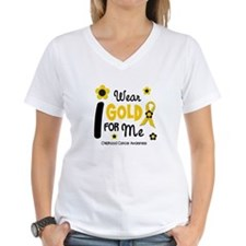 I Wear Gold 12 Me CHILD CANCER Shirt
