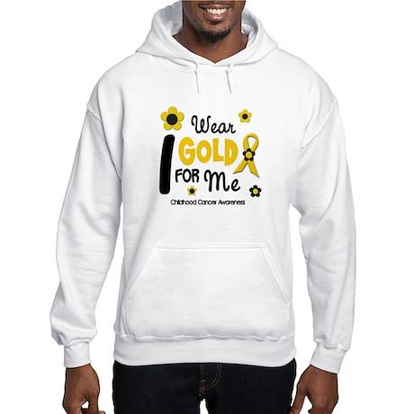 I Wear Gold 12 Me CHILD CANCER Hooded Sweatshirt
