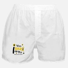 I Wear Gold 12 Me CHILD CANCER Boxer Shorts