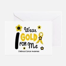 I Wear Gold 12 Me CHILD CANCER Greeting Card