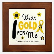 I Wear Gold 12 Me CHILD CANCER Framed Tile