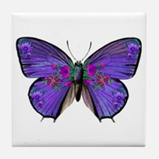 Persephone's Butterfly Tile Coaster