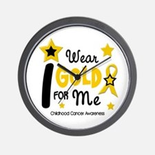 I Wear Gold 12 Me CHILD CANCER Wall Clock