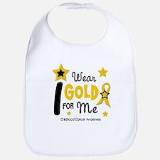 I Wear Gold 12 Me CHILD CANCER Bib