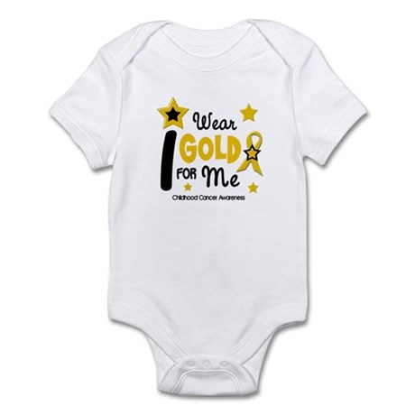 I Wear Gold 12 Me CHILD CANCER Infant Bodysuit