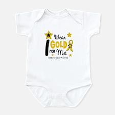 I Wear Gold 12 Me CHILD CANCER Infant Bodysuit