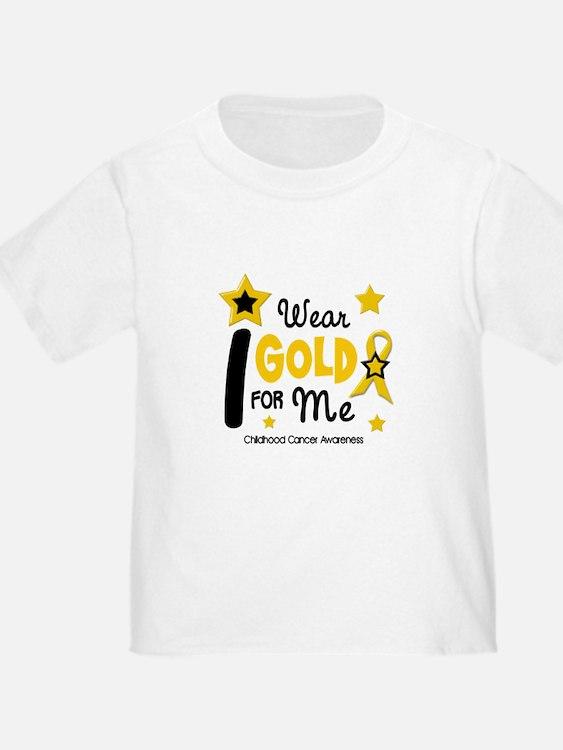 I Wear Gold 12 Me CHILD CANCER T