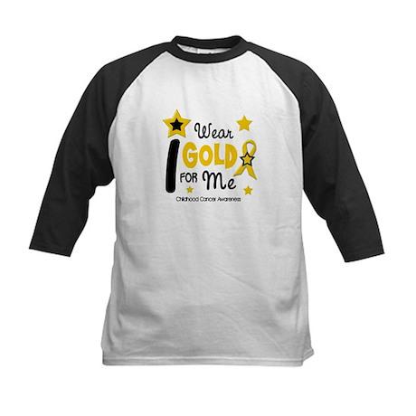 I Wear Gold 12 Me CHILD CANCER Kids Baseball Jerse