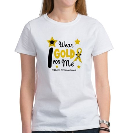 I Wear Gold 12 Me CHILD CANCER Women's T-Shirt
