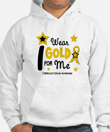 I Wear Gold 12 Me CHILD CANCER Hoodie