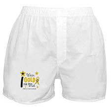 I Wear Gold 12 Me CHILD CANCER Boxer Shorts