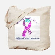 Thyroid Hope Faith and Love Tote Bag