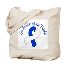 Hero Blue and White Father Tote Bag