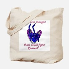 Unlikely weapon... Tote Bag