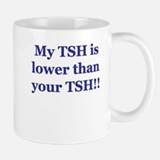 Mine is lower than yours.... Mug