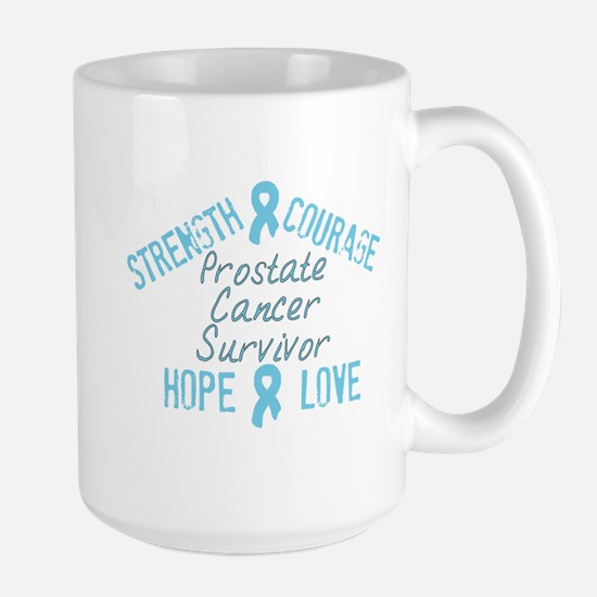Prostate Inspirational Surviv Large Mug