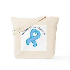 Prostate Heart Survivor Tote Bag