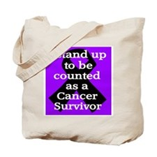 Stand Up Purple Tote Bag
