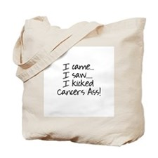 Kicked Cancer's Ass Tote Bag