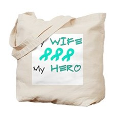 Hero Wife Teal Tote Bag