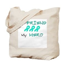 Hero Friend Teal Tote Bag