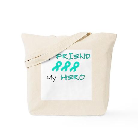 Hero Friend Teal Tote Bag