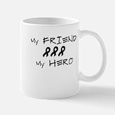 Hero Friend Black Mug