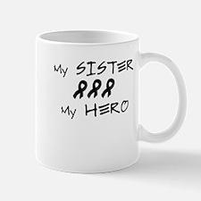Hero Sister Black Mug